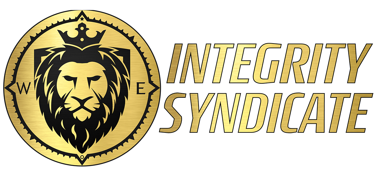 Integrity Syndicate Logo with name tag, integritysyndicate.com